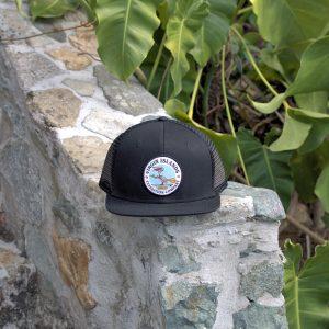 6 Panel Pelican Hat Black