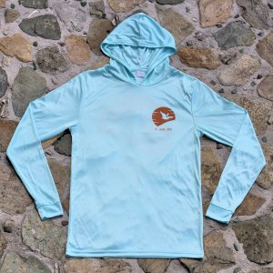 Expedition Surf Shirt Hoodie Blue Front