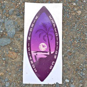 Sunset Pelican Sticker