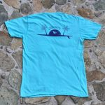 Sunset Paddleboard Shirt Blue Back