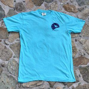 Sunset Paddleboard Shirt Blue Front
