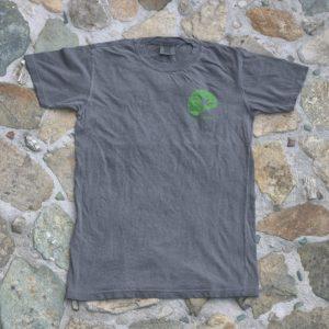 Sunset Paddleboard Shirt Gray Front